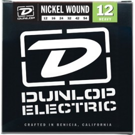 Dunlop DEN1254 Nickel Wound 12 - 54, Heavy Guage Electric Guitar Strings