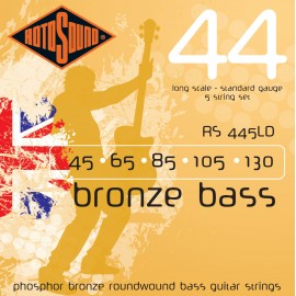 Rotosound RS 445LD 5 String, Bronze Acoustic Bass 44, Standard, Long Scale, 45 - 130