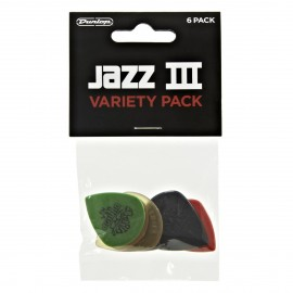 Jim Dunlop PVP103 Jazz III Variety 6 Pack Guitar Picks