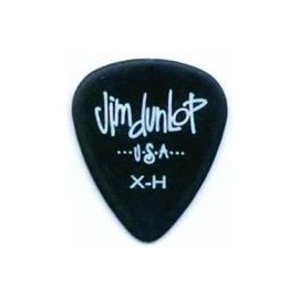 Jim Dunlop 479RXH Extra-Heavy Black Poly Pick Guitar Pick