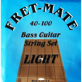 Fret-Mate 139918 Stainless Steel Roundwound Light 40-100 Bass Guitar Strings