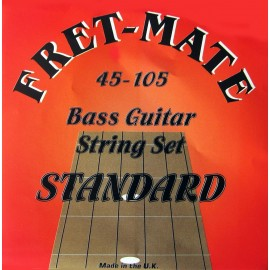 Fret-Mate 139908 Stainless Steel Roundwound Standard 45-105 Bass Guitar Strings
