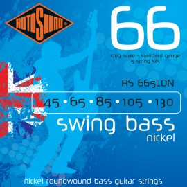 Rotosound RS665LDN 5 String, Swing Bass Nickel 66, Standard Gauge, Long Scale, 45 - 130