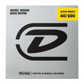 Dunlop Super Bright 40-100 Nickel Wound Bass Guitar Strings DBSBN40100