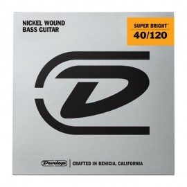 Dunlop 5 String Super Bright 40-120 Light Nickel Bass Strings DBSBN40120