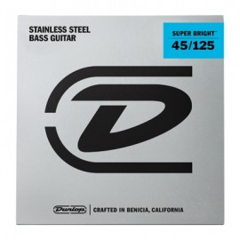 Dunlop 5 String Super Bright 45-125 Medium Stainless Steel Bass Guitar Strings DBSBS45125