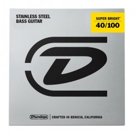Dunlop Super Bright 40-100 Stainless Steel Bass Guitar Strings DBSBS40100