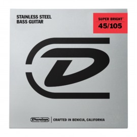 Dunlop Super Bright 45-105 Stainless Steel Bass Guitar Strings DBSBS45105