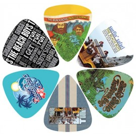 Perri's LP-TBB1 The Beach Boys 6 Pack Assorted Designs Guitar Picks
