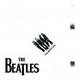 "Perri's P25TB6075 2.5"" Wide The Beatles WHITE ALBUM Vinyl Guitar Strap"