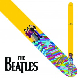 "Perri's P25TB6081 2.5"" Wide The Beatles YELLOW MULTI Vinyl Guitar Strap"