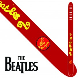 "Perri's P25TB6073 2.5"" Wide The Beatles LOVE Vinyl Guitar Strap"