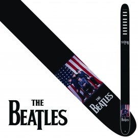 "Perri's P25TB6070 2.5"" Wide The Beatles USA Vinyl Guitar Strap"