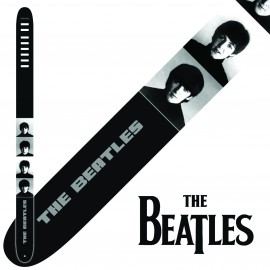 "Perri's P25TB6069 2.5"" Wide The Beatles BLACK AND WHITE FACES Vinyl Guitar Strap"
