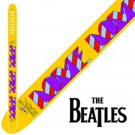 "Perri's P25TB6082 2.5"" Wide The Beatles YELLOW LOVE Vinyl Guitar Strap"