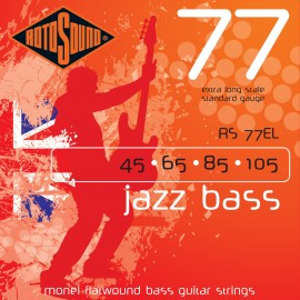 Rotosound RS77EL Jazz Bass 77, Flatwound, Standard Gauge, Extra Long Scale, 45 - 105