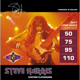 Rotosound SH77 Steve Harris, Flatwound, Standard Gauge, Long Scale, 50 - 110