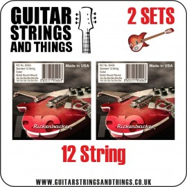 2 SETS  of Rickenbacker 5095404 '12 String Nickel Round Wound' 10 - 46 Electric Guitar Strings