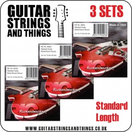 3 SETS of Rickenbacker 5095403 'Nickel Round Wound' 10 - 46 Electric Guitar Strings