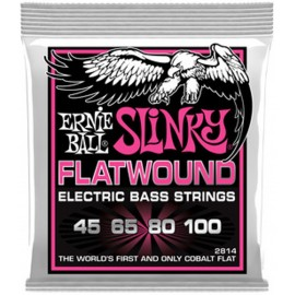 Ernie Ball 2814 'Cobalt Flatwound Super Slinky' 45 - 100 Bass Guitar Strings