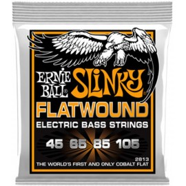 Ernie Ball 2813 'Cobalt Flatwound Hybrid Slinky' 45 - 105 Bass Guitar Strings