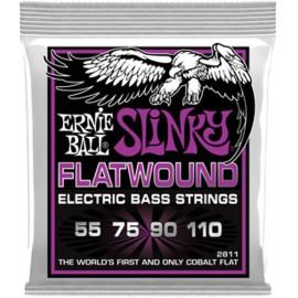 Ernie Ball 2811 'Cobalt Flatwound Power Slinky' 55 - 110 Bass Guitar Strings