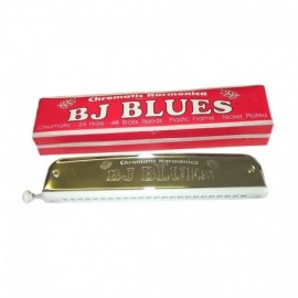 "BJ Blues Folk Blues Chromatic Harmonica in the key of ""G"""