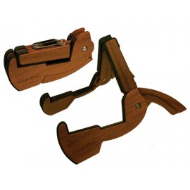 Cooperstand Pro-G Folding Instrument Stand - African Sapele Hardwood - Will Hold Most Stringed Instruments.