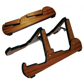 Cooperstand Pro-Tandem Folding Instrument Stand - African Sapele Hardwood - Will Hold Most Stringed Instruments.