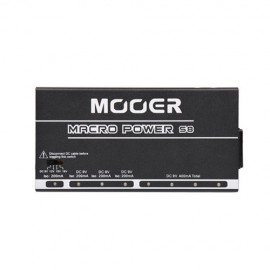 Mooer S8 MACRO POWER Pedal Power Supply - 9V-12V-15V-18V - 8 Ports Isolated Power Supply