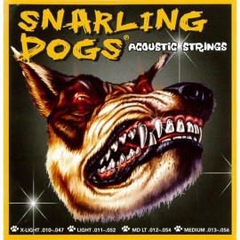 Snarling Dogs 12-54 Med-Light Phosphor Bronze Acoustic Guitar Strings