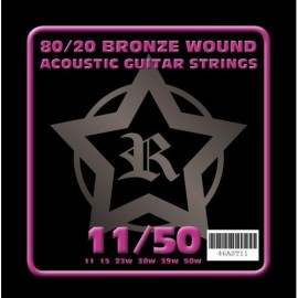 Rosetti AST11 80/20 Bronze Acoustic 11-50 Acoustic Guitar Strings