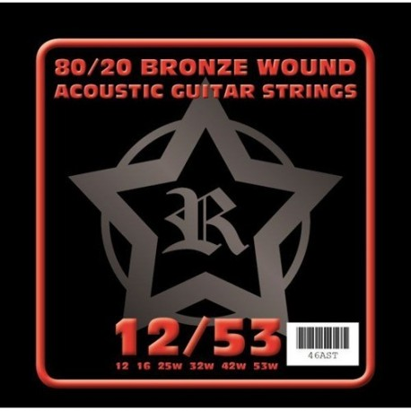 Rosetti 46AST 80/20 Bronze Acoustic 12-53 Acoustic Guitar Strings