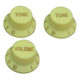 GT556 Guitar Tech Strat Style Volume & Tone Control  - Cream - Pack of 3