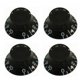 GT507 Guitar Tech Bell Style Volume & Tone Controls - Black - Pack of 4
