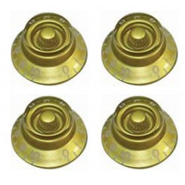GT508 Guitar Tech Bell Style Volume & Tone Controls - Gold - Pack of 4