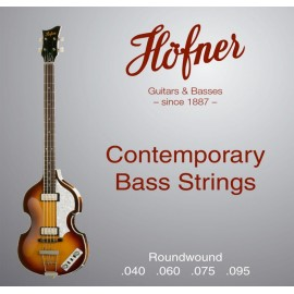 Hofner Contemporary Roundwound 40-95 Short Scale Bass Strings for Violin or Club Bass HCT1133RB