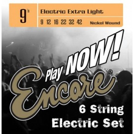 Encore Extra Lite 09-42 Nickel Wound Electric Guitar Strings