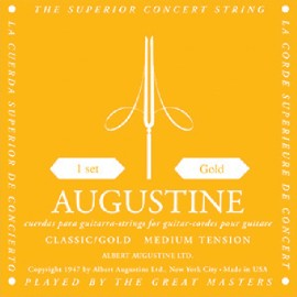 Augustine Classic Gold '28 - 44.5' Medium Tension Classical Guitar Strings