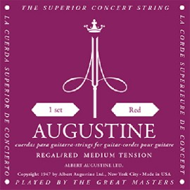 Augustine Regal Red '29.5 - 42.5' Medium Tension Classical Guitar Strings