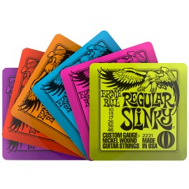 Ernie Ball 6 Assorted Slinky Drink Coasters