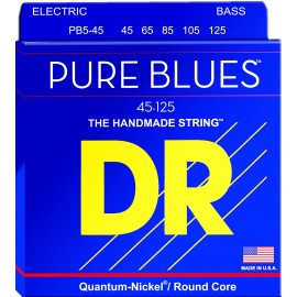 Dr Handmade PB5-45 PURE BLUES 5 String 45-125 Quantum-Nickel Medium Bass Guitar Strings
