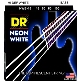Dr Handmade NWB45 Coated WHITE NEON 45-105 Medium Bass Strings