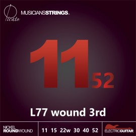 Picato L77 Wound 3rd Nickel Roundwound 11 - 52 Light Electric Guitar Strings
