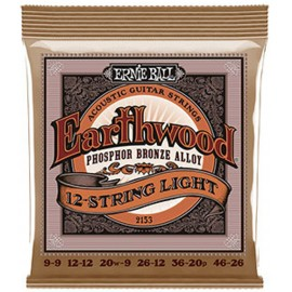 Ernie Ball 2153 '12 String Slinky Acoustic' 09 - 46, Phosphor Bronze Acoustic Guitar Strings