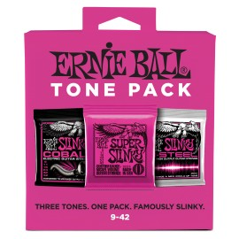 Ernie Ball P03333 TONE PACK Super Slinky Nickel, Cobalt, M-Steel 09-42 Electric Guitar Strings