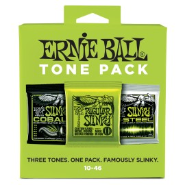 Ernie Ball P03331 TONE PACK Regular Slinky Nickel, Cobalt, M-Steel 10-46 Electric Guitar Strings