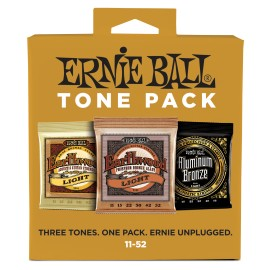 Ernie Ball TONE PACK 11-52 Light Acoustic Guitar Strings P03314