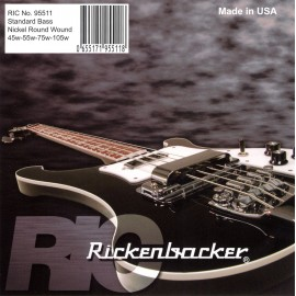 Rickenbacker 45-105 Nickel Round Wound Bass Guitar Strings 95511