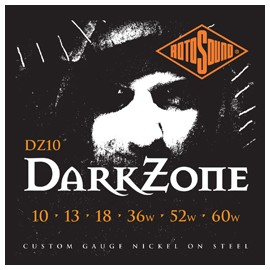 Rotosound DZ10 Darkzone Custom 10 - 60 'Nickel on Steel' Electric Guitar Strings